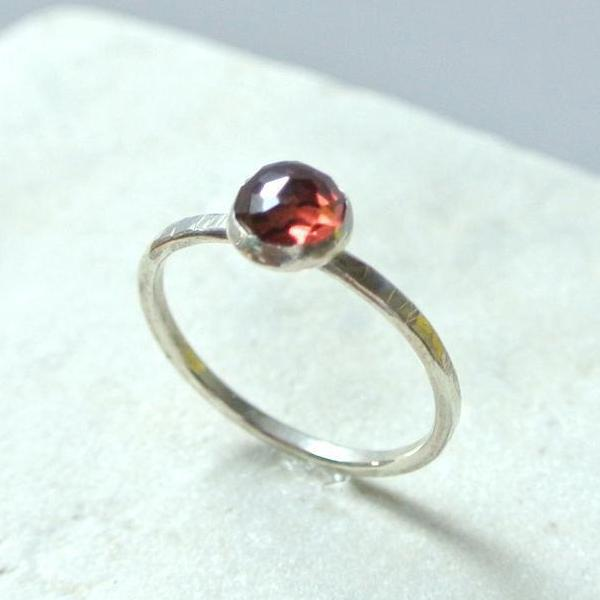 Garnet Essential Gemstone Ring