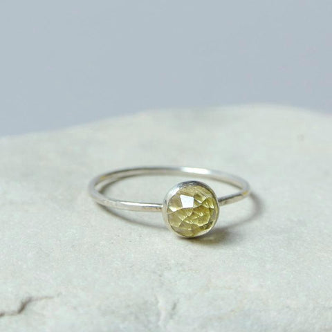 Lemon Quartz Essential Gemstone Ring