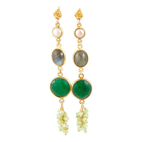 Green Flamenca Earrings