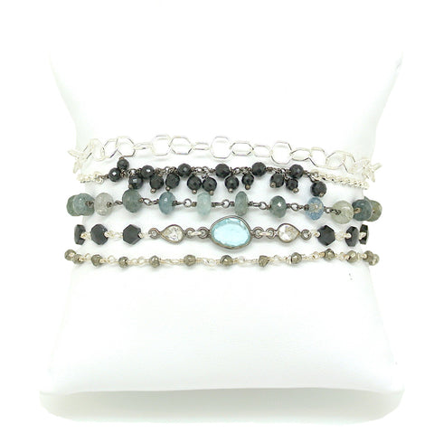 Wrap Bracelet- Winter Sky