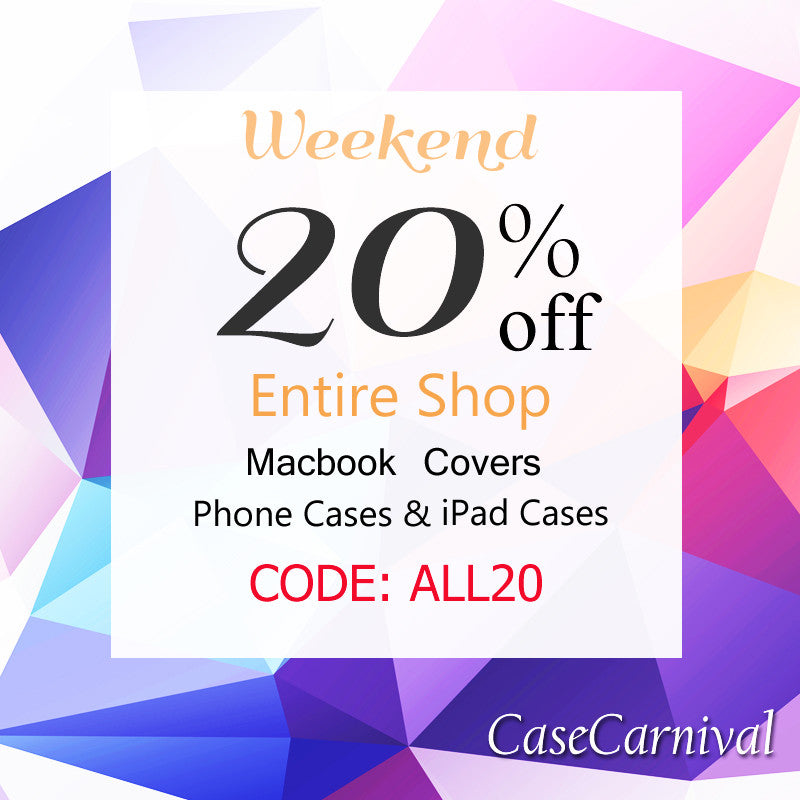 Weekend Sale - 20% off EVERYTHING