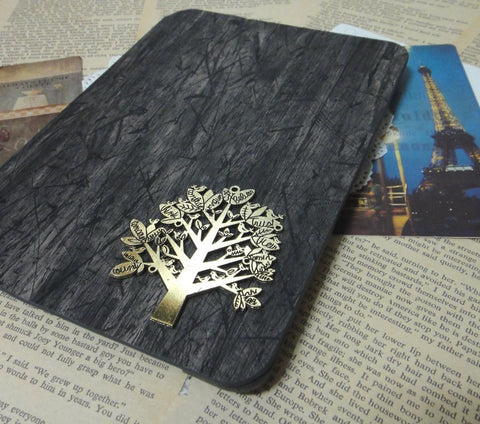 Tree of Life Black Wooden Pattern iPad Stand Case Cover (Not Real Wood) - CaseCarnival- iPad Cases