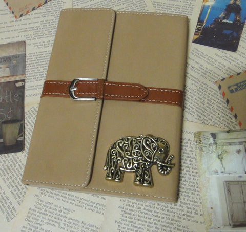 Hollow Elephant Retro Brown Leather iPad Case Cover - CaseCarnival