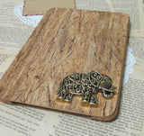 Steampunk Hollow Ornate Elephant iPad Wooden Pattern Stand Case Cover (Not Real Wood) - CaseCarnival- iPad Cases