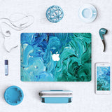 Macbook Skin Decal Sticker - Teal Aqua Painting - CaseCarnival