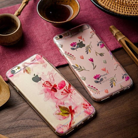 Spring pink floral case fits for iphone 5/5s, 6/6s, and iPhone 6/6s Plus - CaseCarnival
