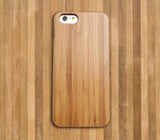 Slim Bamboo Light Wood Case Thin Rubber Bumper For iPhone and Samsung Galaxy - CaseCarnival- Design Cases