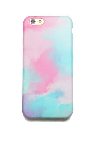 Apple iPhone  6/6s and Plus Case - Pink Teal Watercolor Mist - CaseCarnival- Design Cases