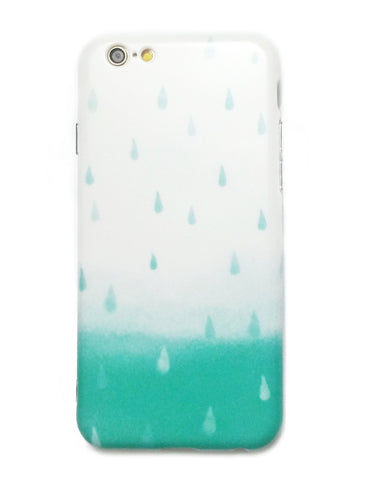 Apple iPhone 6/6s and Plus Case - Teal Raindrops - CaseCarnival- Design Cases