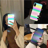 Glitter Rainbow Stripes Gradient Shining Reflection iPhone Case for 11/ 11 Pro/ Pro Max - CaseCarnival- Design Cases