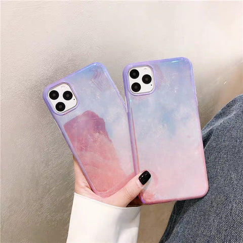 Pink Purple Gradient Aurora iPhone Case - CaseCarnival