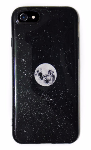 Moon Space Galaxy iPhone 6/6s/7 and Plus Case - CaseCarnival- Design Cases