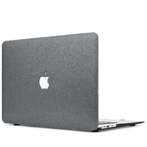 Dark Gray Glitter Macbook Case Cover - CaseCarnival- Macbook Cases