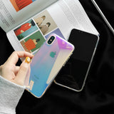 Glossy Aurora Transparent Mirror Slim iPhone Case - CaseCarnival- Design Cases