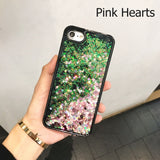 Mermaid Scales Color Heart Liquid Glitter Waterfall iPhone 6/6s/7 and Plus Case - CaseCarnival- Design Cases
