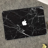 Macbook Decal Sticker - Black Marble - CaseCarnival