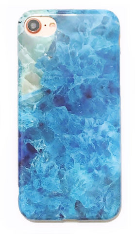 Icy Rock Blue Marble iPhone 6/6s/7 and Plus Case
