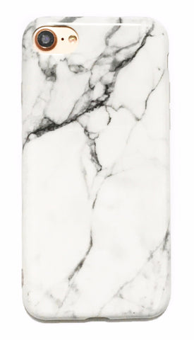 Minimal White Marble iPhone 6/6s/7/8 and Plus Case - CaseCarnival- Design Cases