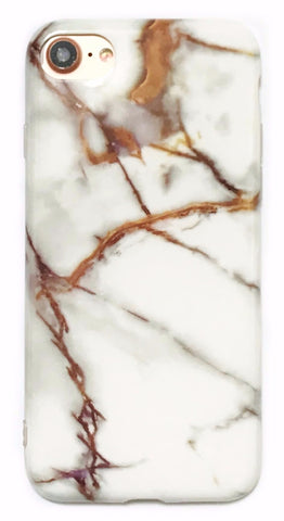 White Gold Marble iPhone 6/6s/7 and Plus Case