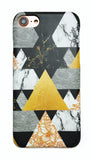 Geometric Tribal Arrows Marble iPhone 6/6s/7/8 and Plus Hard Case - CaseCarnival- Design Cases