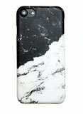 Black and White Milky Marble iPhone 6/6s/7/8 and Plus Hard Case - CaseCarnival- Design Cases