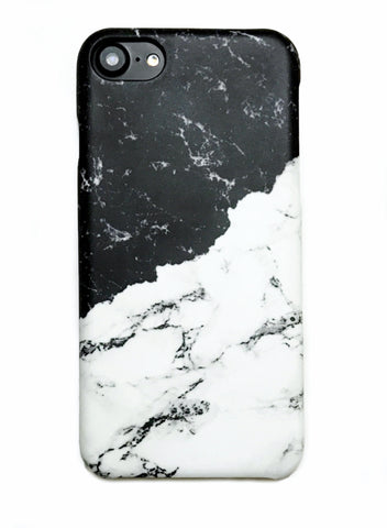 Black and White Milky Marble iPhone 6/6s/7 and Plus Hard Case