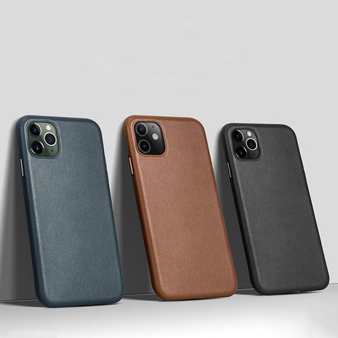 Premium Minimal Leather iPhone Case for 11/ 11 Pro/ Pro Max - 7 Colors - CaseCarnival