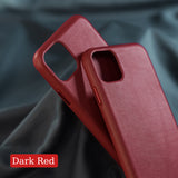 Premium Minimal Leather iPhone Case for 11/ 11 Pro/ Pro Max - 7 Colors - CaseCarnival- Design Cases