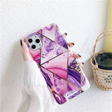 Gold Frame Oil Painting Marble iPhone Case for 11/ 11 Pro/ Pro Max - 3 Colors - CaseCarnival- Design Cases