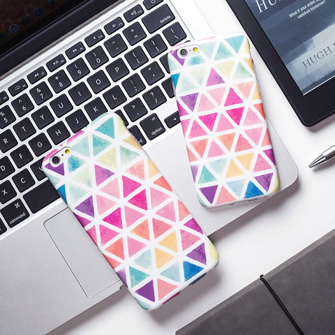 Geometric Triangle Pattern Phone Case Cover for Apple iPhone - CaseCarnival