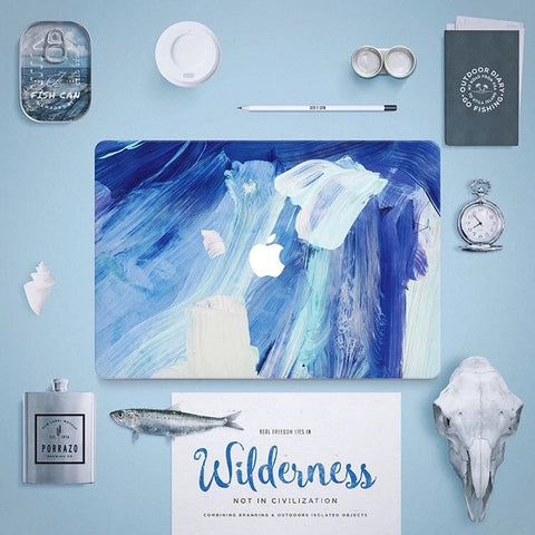Macbook Skin Decal Sticker - Blue Painting - CaseCarnival