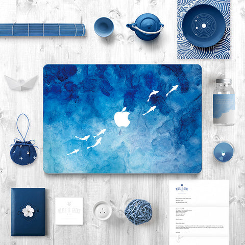 Macbook Skin Decal Sticker - Fishes - CaseCarnival- Macbook Decal Sticker