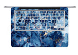Macbook Skin Marble Decal Sticker - Blue Deep Ocean - CaseCarnival- Macbook Decal Sticker