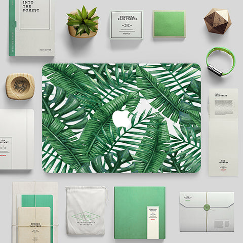 Macbook Skin Marble Decal Sticker - Tropical Rainforest Leaves