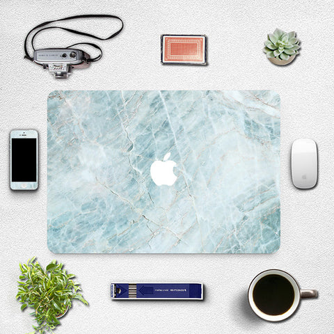 Macbook Skin Decal Sticker - Icy Marble - CaseCarnival- Macbook Decal Sticker