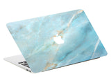 Macbook Skin Decal Sticker - Teal Blue Marble - CaseCarnival