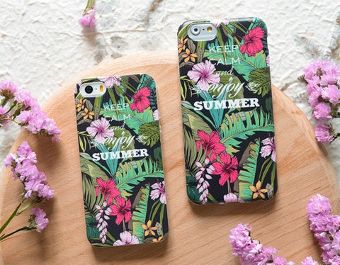 Flower Case, KEEP CALM AND ENJOY SUMMER Floral iphone case fit Apple iPhone - CaseCarnival- Design Cases