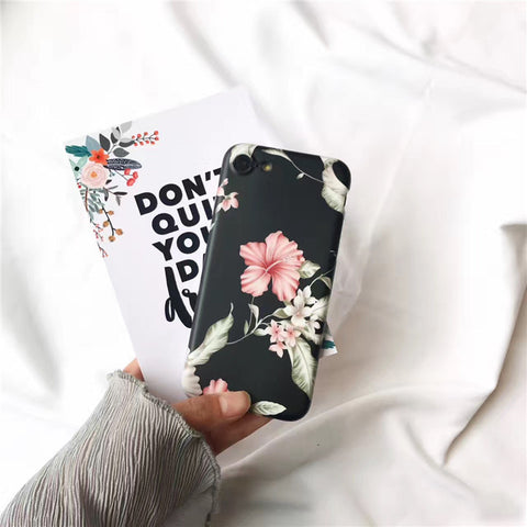 Black Floral iPhone 6/6s/7 and plus Case