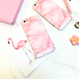 iPhone 6/6s and Plus Glossy Soft Case - Pink Marble