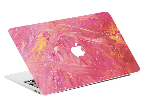 Macbook Skin Decal Sticker - Pink - CaseCarnival- Macbook Decal Sticker