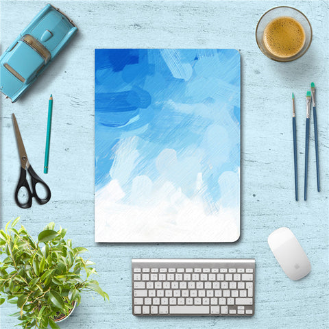 Blue Watercolor Print iPad Case Cover for iPad Air / Mini - CaseCarnival- iPad Design Cases