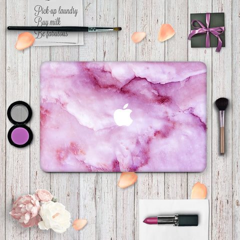Macbook Skin Decal Sticker - Purple Marble - CaseCarnival