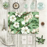 Macbook Skin Decal Sticker - White Flowers