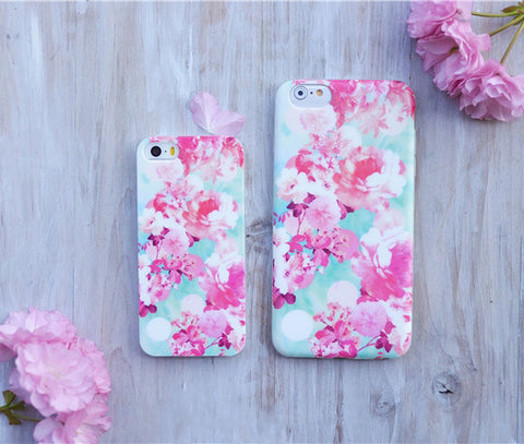 Flora Flower Case, Summer Japan Spring Cherry Blossom Sakura Flower iphone case fit Apple iPhone 5, iPhone 6 , iPhone6 Plus - CaseCarnival