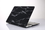 Macbook Case - Black Marble Print Matt Case - CaseCarnival- Macbook Cases