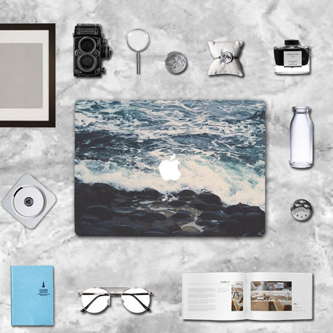 Macbook Skin Decal Sticker - Shore Wave - CaseCarnival- Macbook Decal Sticker