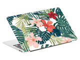 Macbook Skin Marble Decal Sticker - Tropical Flowers - CaseCarnival- Macbook Decal Sticker