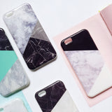 Fashion Marble Wood Print Geometric Phone Case for Apple iPhone 6/6S and iPhone 6/6S Plus - CaseCarnival- Design Cases