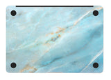 Macbook Skin Decal Sticker - Teal Blue Marble - CaseCarnival- Macbook Decal Sticker