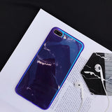 Glossy Reflection Purple Marble iPhone X and iPhone 6/6s/7/8 and Plus Case - CaseCarnival- Design Cases